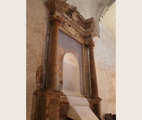 Consummatum est,  300x100, 2005,Genius Loci  Chiesa di San Tommaso, (VT)
