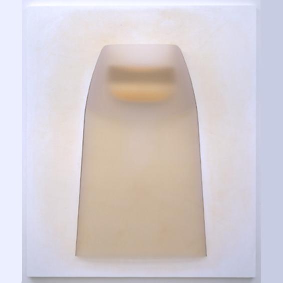 Del silenzio stesso  130 x 110x 14 2004 PVC e acrilico su tavola