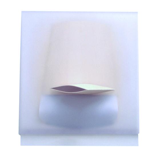 Paolo Radi  Emerso 2003 cm80X70 legno PVC e acrilico su tavola