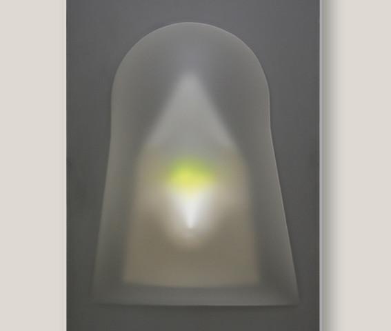 Paolo Radi, Ossessione, 143x93, 2008, perspex e pvc.