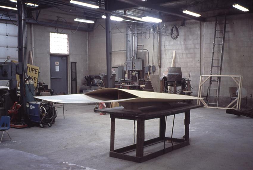 Sculpture space N Y  2002 Hanging